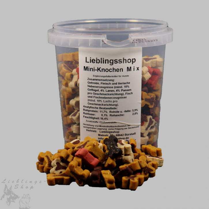 Mini-Knochen-Mix, 500 g Dose, 500 g