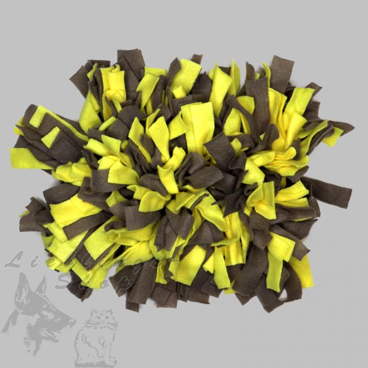 Schnüffelteppich, klein, gelb-grau, 1 St.