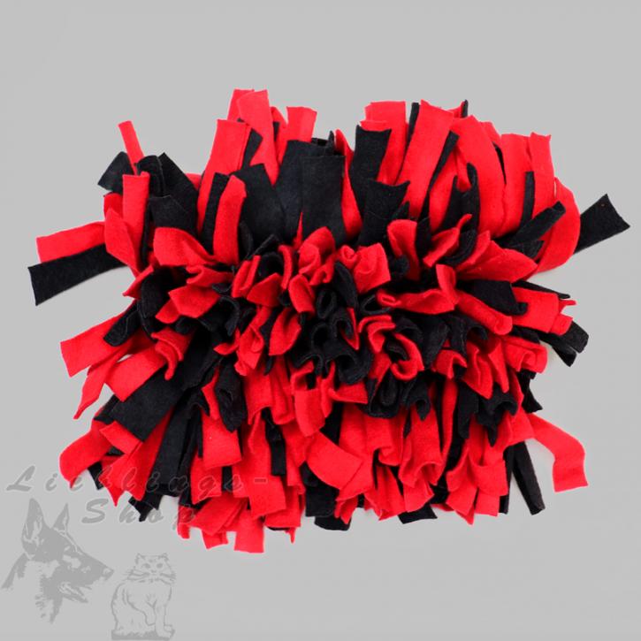 Schnüffelteppich, klein, rot-schwarz, 1 St.