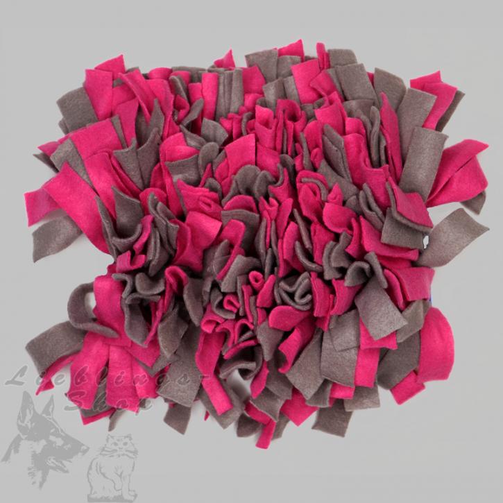 Schnüffelteppich, klein, pink-grau, 1 St.
