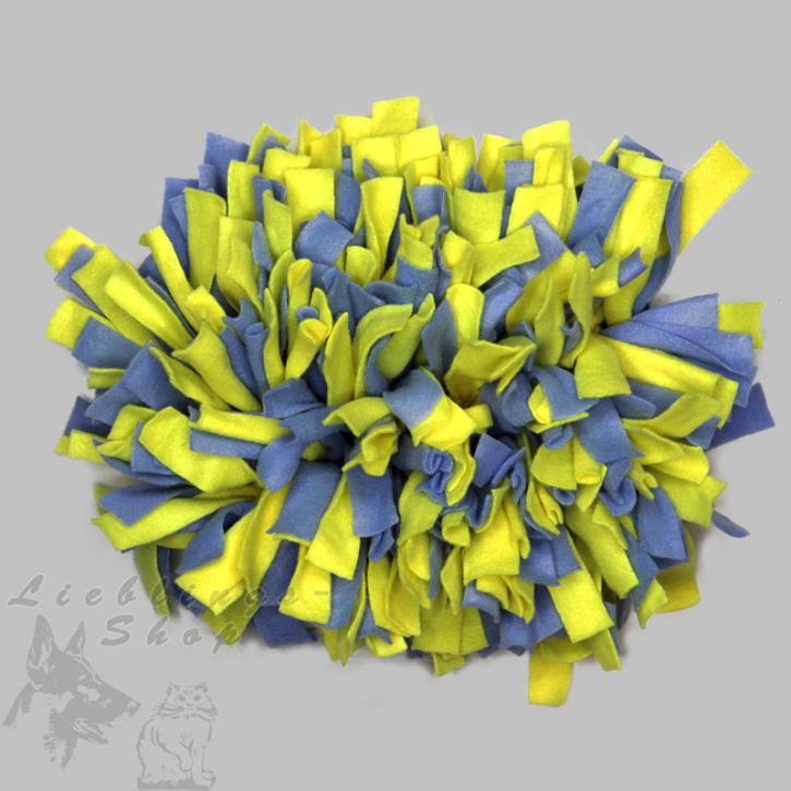 Schnüffelteppich, klein, blau-gelb, 1 St.