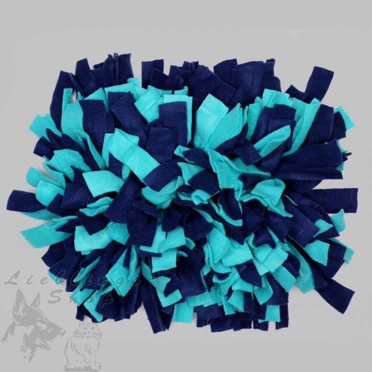 Schnüffelteppich, klein, dunkelblau-türkis, 1 St.