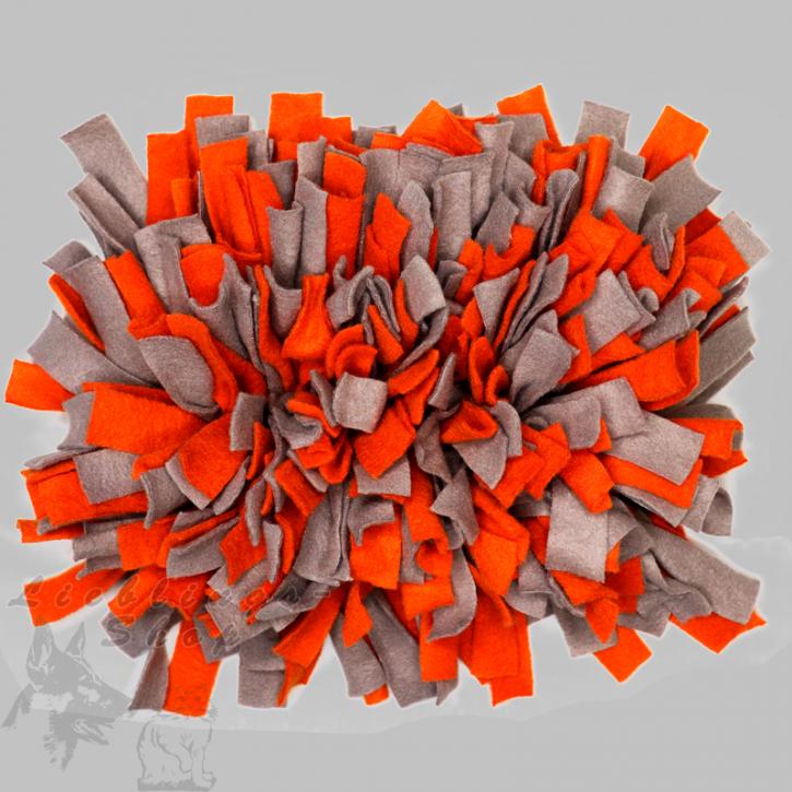 Schnüffelteppich, klein, orange-grau, 1 St.