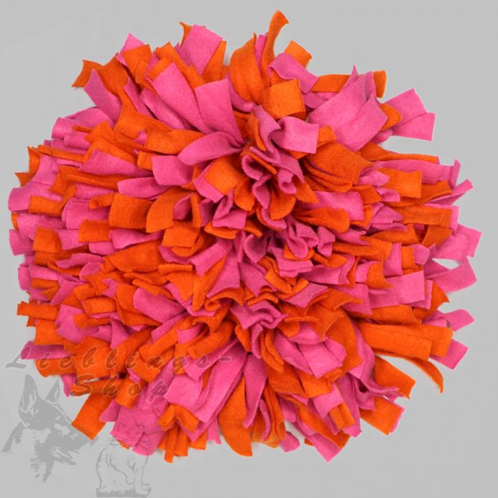 Schnüffelteppich, rund, orange-pink, 1 St.