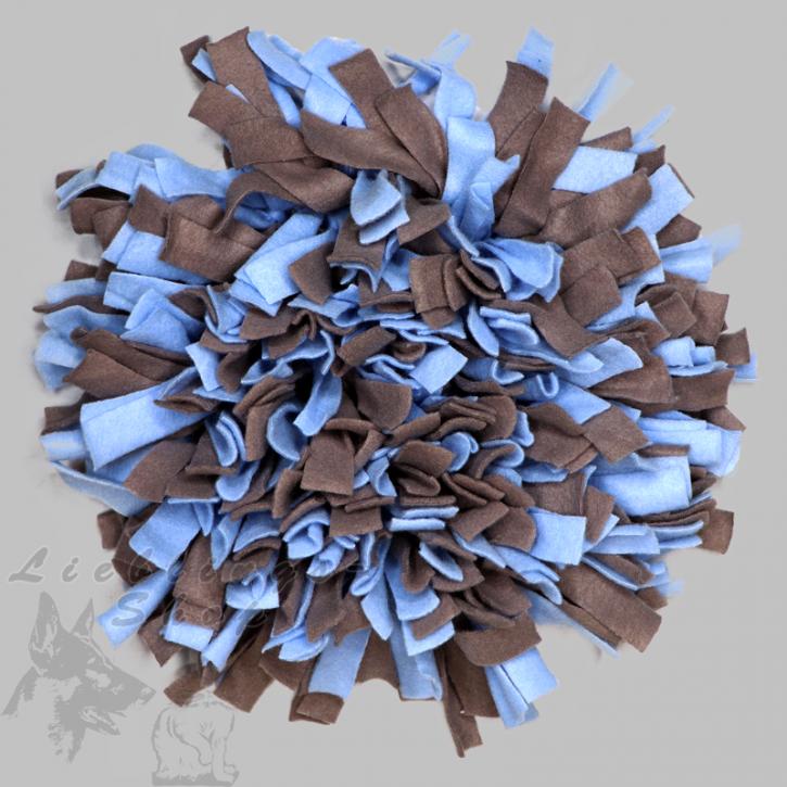 Schnüffelteppich, rund, hellblau-grau, 1 St.