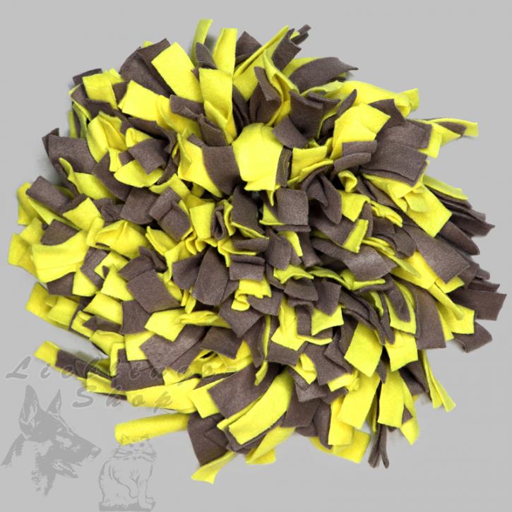Schnüffelteppich, rund, gelb-grau, 1 St.