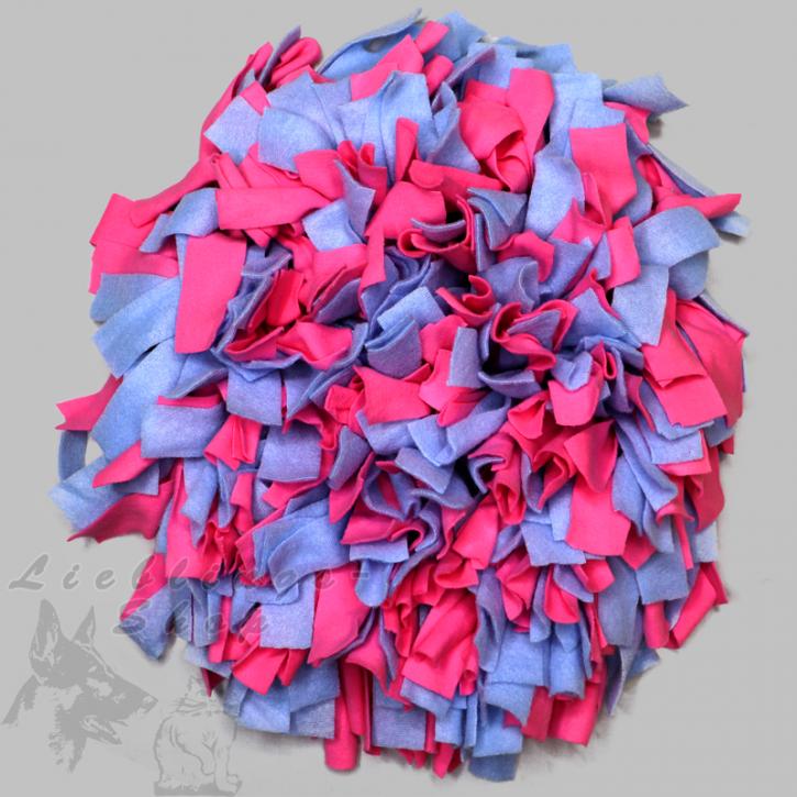 Schnüffelteppich, rund, pink-hellblau, 1 St.