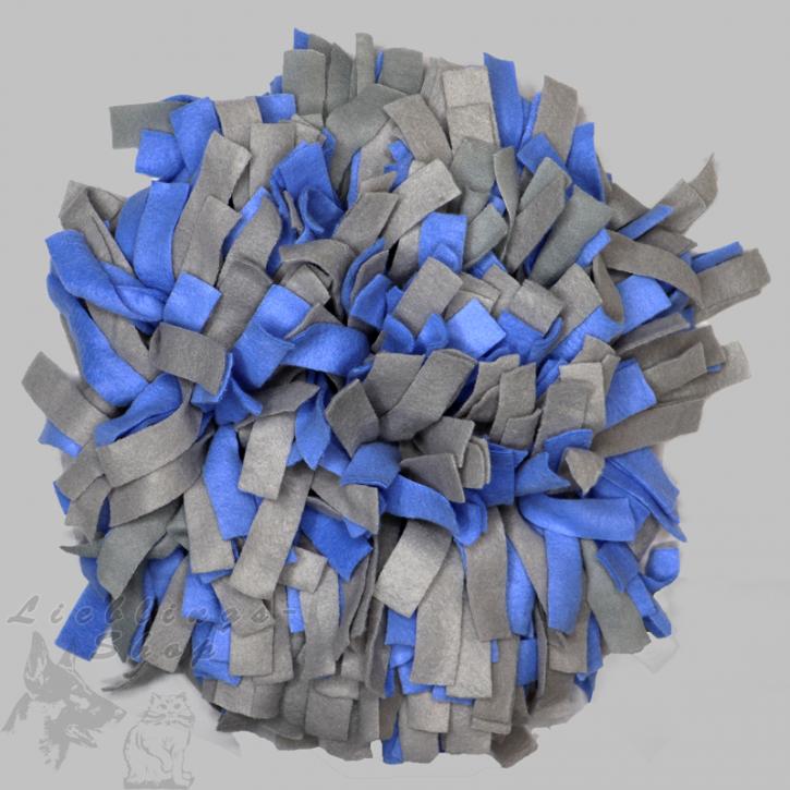 Schnüffelteppich, rund, grau-blau, 1 St.
