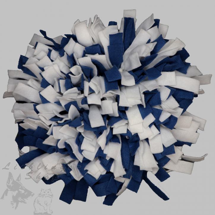 Schnüffelteppich, rund, dunkelblau-weiß, 1 St.