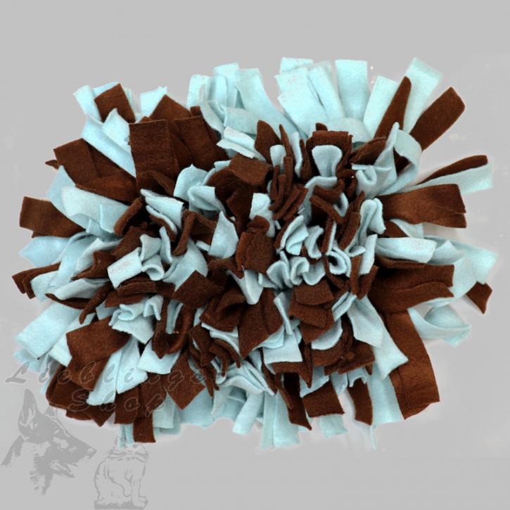 Schnüffelteppich, klein, braun-mint, 1 St.