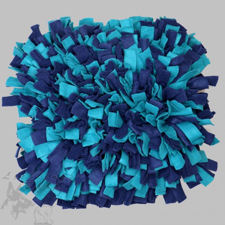 Schnüffelteppich, groß, dunkelblau-türkis, 1 St.