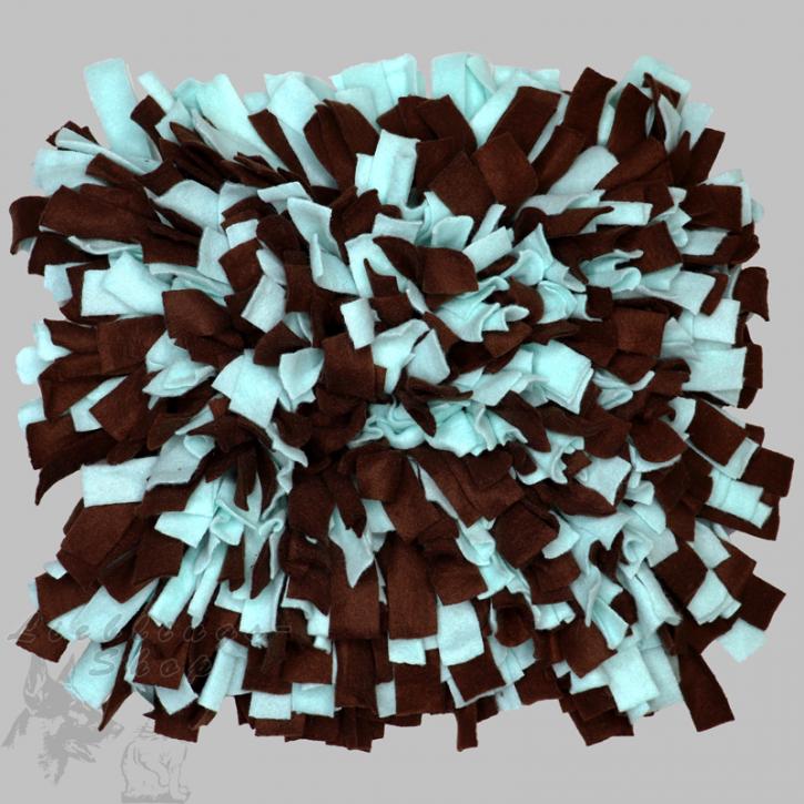 Schnüffelteppich, groß, braun-mint, 1 St.