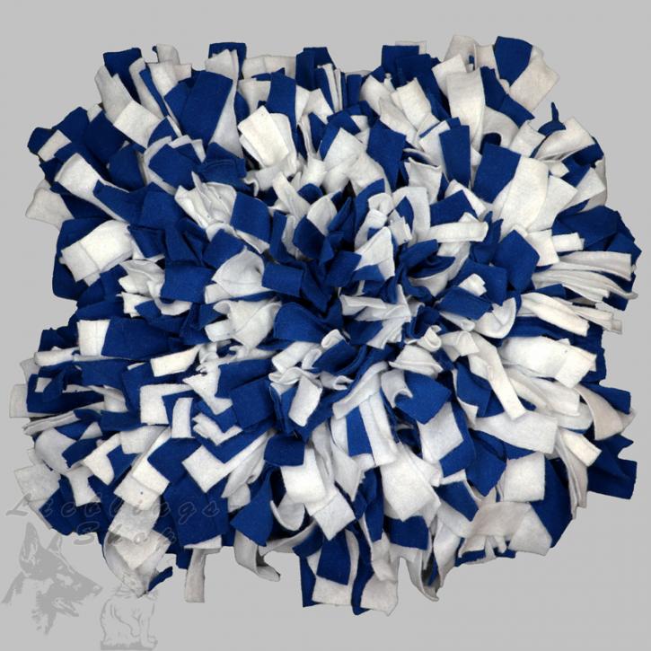 Schnüffelteppich, groß, dunkelblau-weiß, 1 St.