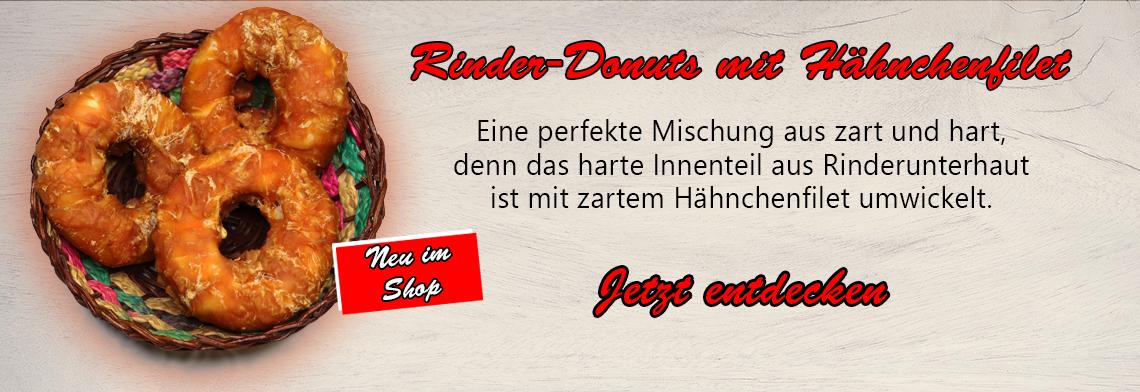 Rinder-Donuts mit Kaustange